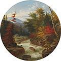 On the St. Ann's River Below Quebec, Canada, Autumnal Foliage, oil painting by Cornelius Krieghoff.jpg