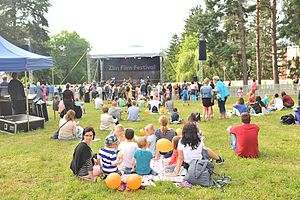 Zlín Film Festival - Open air place is a place for music concerts and open-air screenings