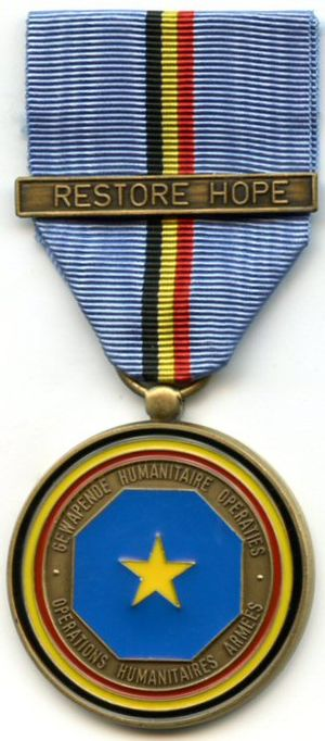 Commemorative Medal for Armed Humanitarian Operations - Image: Operations Humanitaires Armees