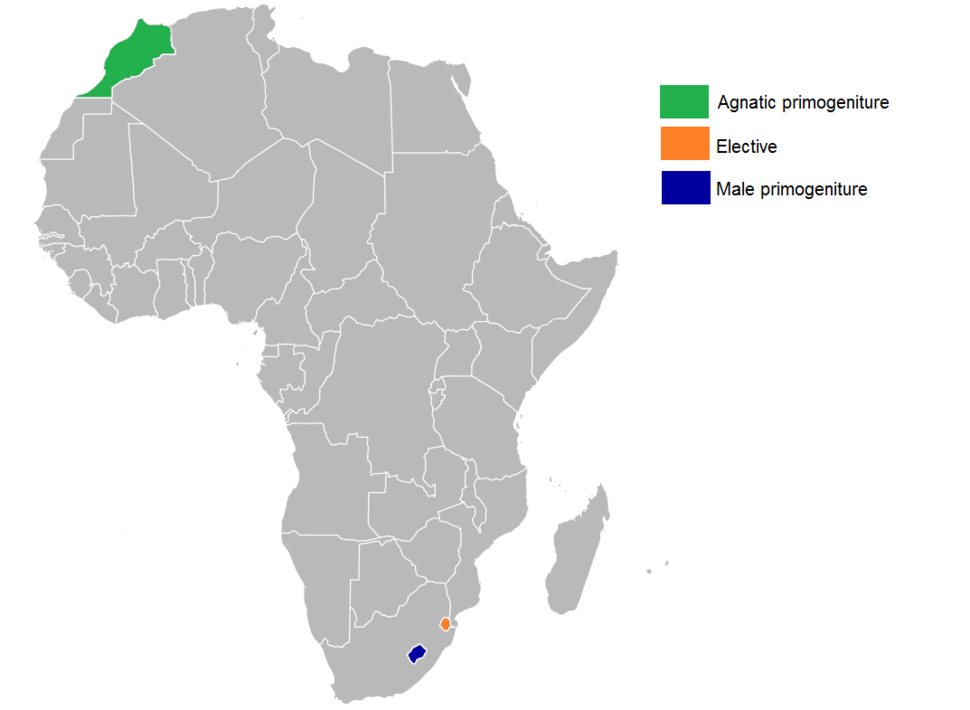 Order of succession (Primogeniture) in African monarchies