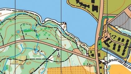 Orienteringskort bygholm 2005 detail
