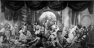 Art Treasures Exhibition, Manchester 1857 - Oscar Gustave Rejlander allegorical photographic montage, The Two Ways of Life, first exhibited at the Manchester Art Treasures Exhibition in 1857