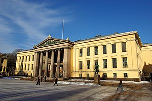 University of Oslo Faculty of Law - Domus Media. The Nobel Peace Prize was awarded annually in this building 1947–1989
