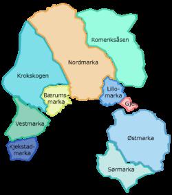 kart over marka Marka, Oslo – Wikipedia kart over marka