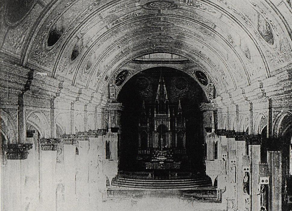 Oton (Iloilo) OldCathedral interior 1901