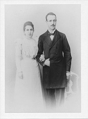 Otto Berg (scientist) - Otto Berg and his wife Yullia