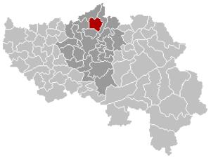 Oupeye - Image: Oupeye Locatie