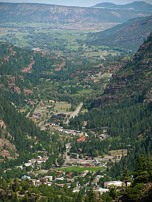 Ouray County, Colorado - View from Ouray to Loghill Village