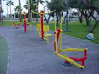 Outdoor gym in Parque de Bateria, Torremolinos.JPG