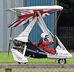 P&M Aviation Pegasus Quik (G-CIYZ) at Cotswold Airport England 18Jun2016 arp.jpg