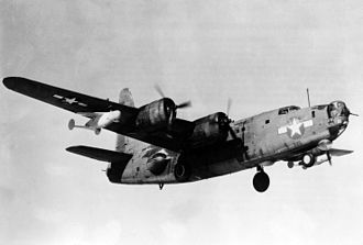 Consolidated PB4Y-2 Privateer - A PB4Y-2B carrying ASM-N-2 Bat glide bombs.