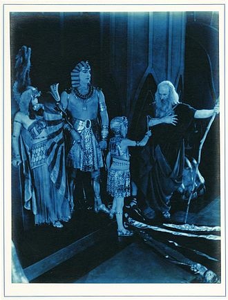 Julia Faye - Faye with Charles de Rochefort, Pat Moore, and Theodore Roberts in The Ten Commandments (1923)