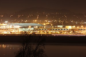 Portland International Airport - Portland International Airport at night