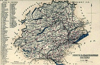 Perth and Kinross - Image: PERTH & CLACKMANNAN SHIRES Civil Parish map