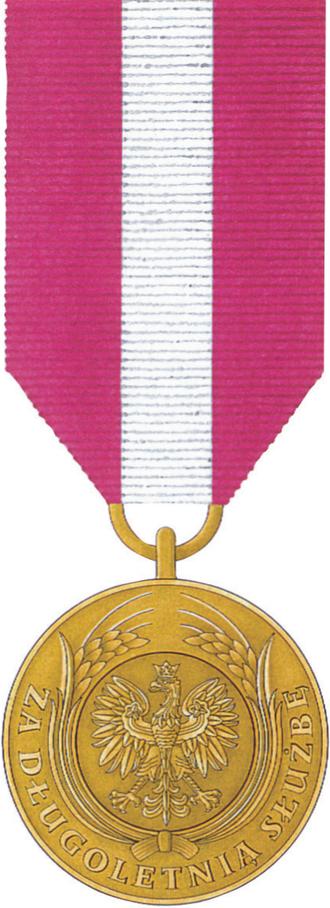Medal for Long Service - Image: POL Medal Za Dlugoletnia Sluzbe zloty awers
