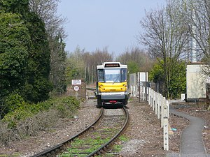 British Rail Class 139 - 139 002 approaching Stourbridge Junction