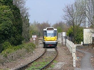 British Rail Class 139 - 139 002 approaching Stourbridge Junction