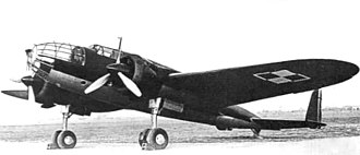 Medium bomber - Polish PZL.37 Łoś, a medium bomber.