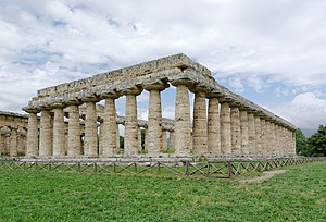 Campania - Temple of Hera, Paestum, built 550 BC