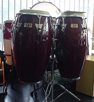 Conga - A pair of Latin Percussion conga drums