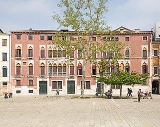 Campo San Polo square in Venice, Italy