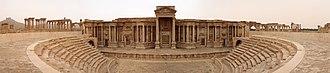 Roman Theatre at Palmyra - Image: Palmyre théâtre pano