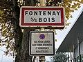 Panneau entrée Fontenay Bois Avenue Maréchal Lattre Tassigny Fontenay Bois 2.jpg