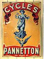 Pannetton Cycles enamel advertising sign.JPG