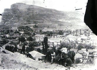 Florina - Panorama of the city of Florina, 1898-1912. Photo taken by Manakis brothers (broken glass plate)