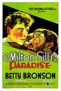 <i>Paradise</i> (1926 film) 1926 lost silent film directed by Irvin Willat