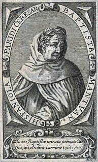 Baptista Mantuanus Poet & carmelite (1448-1516)