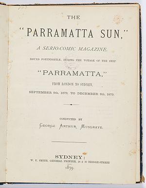 Parramatta (1866) - Image: Parramatta sun