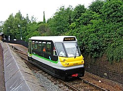 Parry People Mover 139 002 leaving Stourbridge Town Railway Station - geograph.org.uk - 1376879.jpg