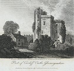Part of Cardiff castle, Glamorgan
