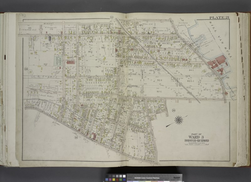 File:Part of Ward 3. (Map bound by Winant St (Monroe), Richmond Terrace, Pierhead and Bulkhead Line, Nicholas Ave, Castleton Ave (Hatfield), Grove PL (Woodland PL), Charles Ave, Richmond Ave, NYPL1646241.tiff