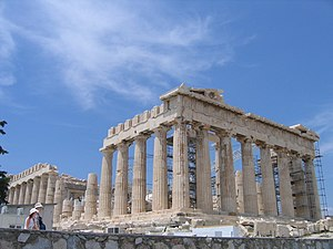 Temple of Parthenon of Athens