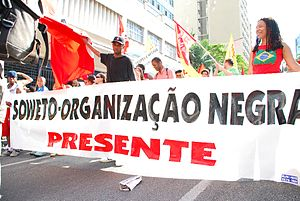 Black Awareness Day - A march during Consciência Negra day, São Paulo, 2008.