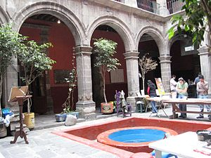 Caricature Museum, Mexico City - Patio of the building