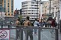 Patrol at railway station forecourt of Antwerpen-Centraal.jpg