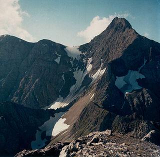 Parseierspitze mountain in the Lechtal Alps in Tyrol