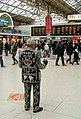 Pearly King on the Central Concourse, Victoria Station, London SW1 - geograph.org.uk - 727833.jpg