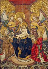 Mare de Déu i quatre àngels