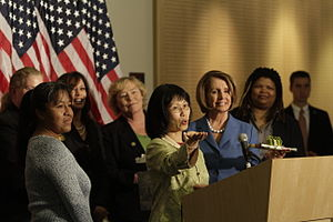 Kamala Harris - Harris (back, second from the left) celebrating the 90th anniversary of the Nineteenth Amendment to the United States Constitution.