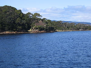 Macquarie Harbour Penal Station - Image: Penitentiary ruin on Sarah Island