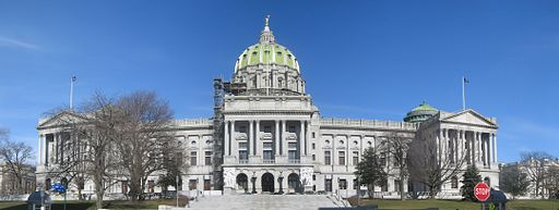 Pennsylvania State Capitol Front Panorama