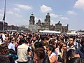 People evacuated on Mexico Ciy Zocalo after 2017 earthquake 1.jpg