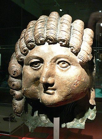 Qaryat al-Faw - Head of a man from Qaryat al-Faw (1st century BC)