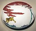 Periodo edo, piatto con tigre tra i bambù, 1700 ca. 01.jpg