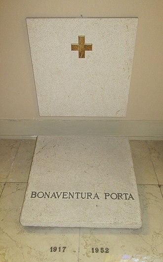 Bonaventura Porta - Image: Pesaro cathedral grave bishop porta