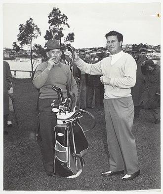 Peter Thomson (golfer) - Thomson in Tasmania